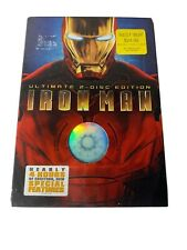 Iron Man (DVD, 2008, 2-Disc Set, Ultimate Edition, w Slipcover) Marvel