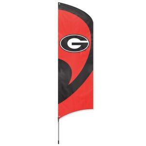 GEORGIA BULLDOGS Tall Team Swooper Flag DOUBLE SIDED Tailgating Flag Pole Kit
