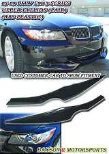 Headlights Eyelids Eyebrows (ABS) Fit (05-08 BMW E90 E91 4dr)