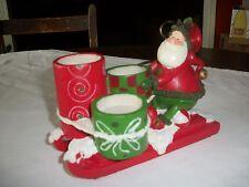St. Nicholas Square Santa Sleigh Tealight Holder Christmas Collection