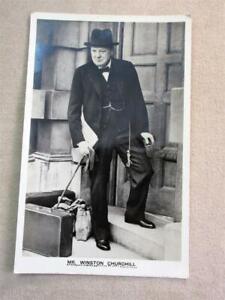 MR WINSTON CHURCHILL - Vintage WW2 Military REAL PHOTO POSTCARD c1940!