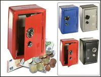 Spardose Metall  Bank Safe Tresor Kombinationsschloss Sparschwein Rot