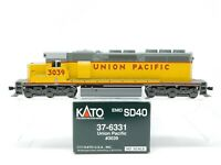HO Scale Kato 37-6331 UP Union Pacific SD40 Diesel Locomotive #3039 DCC Ready
