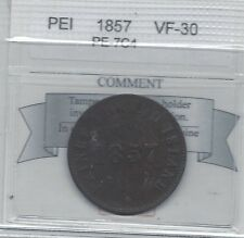 **1857** PEI, Free Trade Self Gov. Token, Coin Mart Graded**VF-30** PE-7C4