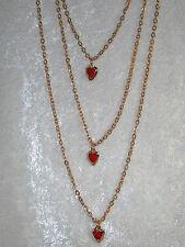 Fashion jewelry triple chain red heart slides PRETTY! C78P19