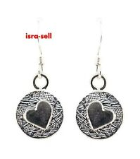 925 Sterling Silver HEART EARRINGS - Song of Solomon - Jewish Jewelry - Hebrew