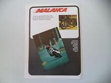 advertising Pubblicità 1974 MOTO MALANCA 125 SPORT