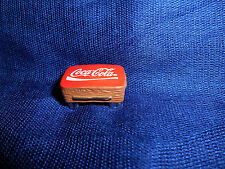COCA COLA COFFEE POOL TABLE Mini Figurine French Porcelain FEVES Coke FURNITURE