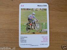 EASY RIDER 3D MAICO 500 CC KWARTET KAART, QUARTETT CARD,SPIELKARTE