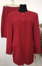 NWT Saville Women's Career Berry Polyester Blend 2 Piece Skirt Suit Size 14