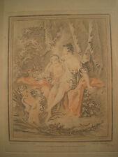 Gravure à la Sanguine XVIII ème Dessinée par BOUCHER gravée par DEMARTEAU n° 345