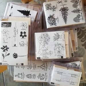 REDUCED $$ Stampin' Up! Retired Wooden Stamp Sets-Brand New/Unmounted  1998-2005