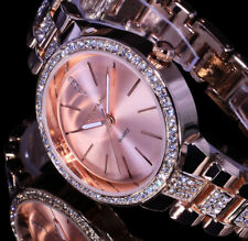 Excellanc Uhr Damenuhr Armbanduhr Rosegold Farben Metall Strass 31