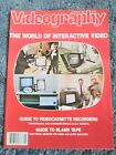 Videography Magazine January 1982 - The World Of Interactive Video, Blank Tape