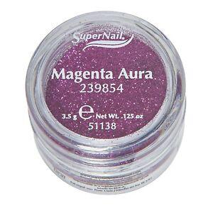 Supernail Glitter Magenta Aura 0.125oz 3.5g