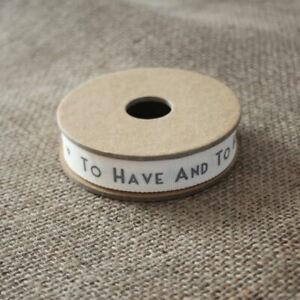 Grey Wedding Ribbon   To Have and To Hold Gift Wrapping Favours 3m