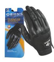 Bionic Mens Stable Grip Golf Glove - Black - Right Hand (For Left Hand Golfer)