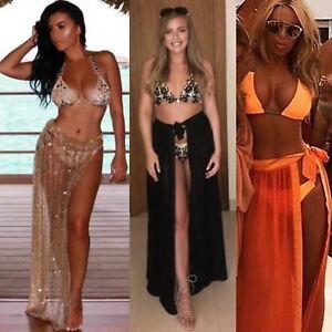 Ladies Glitter Beach Wrap Bikini Cover Up Pool Party Crochet Lace Holiday Dress