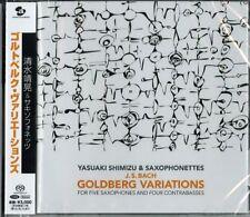 YASUAKI SHIMIZU & SAXOPHONETTES-GOLDBERG VARIATIONS-JAPAN SACD HYBRID G88