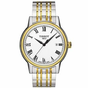 Tissot Swiss Made T-Classic Carson 2 Tone Gold Plated Men's Watch T0854102201300