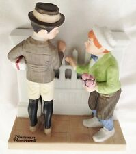 "Norman Rockwell Humor 6"" The Rivals Boys by Fence 1980 Danbury Mint Figurine"
