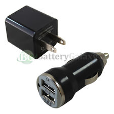 Fast Universal Dual 2 Port Wall+Car Charger for Apple iPhone/Android Cell Phone