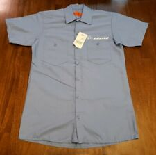 Boeing Dickies Uniform Work Shirt Light Blue Button Front Size Small NWT NEW