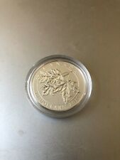 2015 Canada $10 Silver Coin, Maple Leaf (cn14) Box and Display case