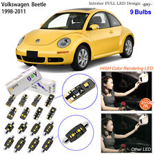 9 Bulb Deluxe LED Interior Light Kit White For 1998-2011 VW New Beetle Hatchback