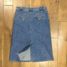 CHRISTOPHER & BANKS Denim Skirt 100% Cotton Modest Comfortable Women's 12