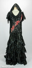 Spanish Senorita Dress Deluxe Sequin & Poly Satin Ladies Costume Dress Med-Lg