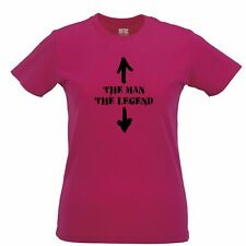 Novelty Womens TShirt The Man, And The Legend Novlety Slogan Arrows Joke Adult