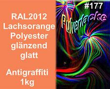 capa del polvo 1kg Polvo Para Recubrimiento ral2012 salmón Anti Grafiti
