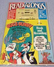 Vintage Peter Pan Bugs Bunny Read Along Book & Cassette Tape Set Get That Pet