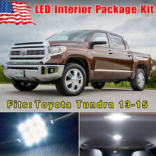 14PCS Pure White LED SMD Combo Interior Package Deal For 2013-2015 Toyota Tundra
