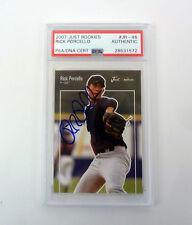 Rick Porcello 2007 Just Rookies Signed Autograph RC Card Slabbed PSA/DNA COA