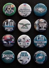 Philadelphia Eagles Super Bowl LII Champions - Button Set (  Free Shipping  )