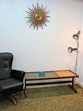 Retro G Plan Teak Coffee Table, Vintage tile top & smokey glass Northants
