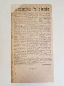 D'ANNUNZIO, Gabriele: IL COMMIATO FRA LE TOMBE, volantino Fiume 1921