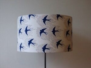 Beautifully Handmade Drum Lampshade In Cloud 9 'Whitehaven' Ivory Organic Cotton