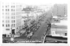 Real Photo Postcard Hollywood Blvd at Highland Avenue in Hollywood, CA~103543