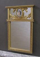 VINATGE  GLASS  CAMEO  MIRROR  ~  Dollhouse Miniature ~ 1:12 scale ~ Room Box