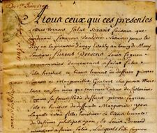 1704 Parchemin Oise Rente COIGNON GOULART YON BENARD COURBE DUVIVIER VAULDRÉE