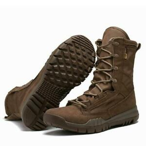 Men's Ankle Work Boots Slip Resistant Military Style Heavy Outdoor Duty Shoes