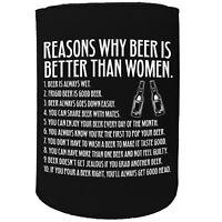 Stubby Holder - Reasons Is Better Than Women - Funny Novelty Christmas Gift Joke