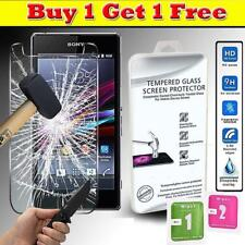 100% Genuine Tempered Glass Screen Protector Cover For Sony Xperia Z1s