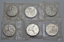 6 x 1 rublos 1991-rusia-olímpico juegos de verano 1992 en barcelona rar