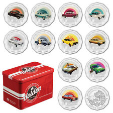 2016 AUSTRALIAN HOLDEN HERITAGE COLLECTION COMPLETE SET OF 12 X 50c COINS IN TIN