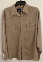 WRANGLER MEN'S LONG SLEEVE STRIPED SNAP BUTTONED WESTERN SHIRT SIZE XL