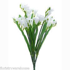 Artificial silk Freesia white bunch wedding flowers 50cm